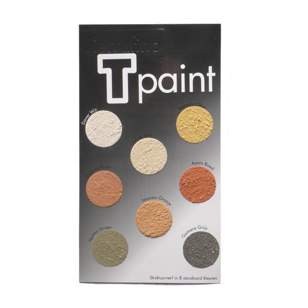 Tierrafino T-Paint Leemverf Structuur Kleurenkaart